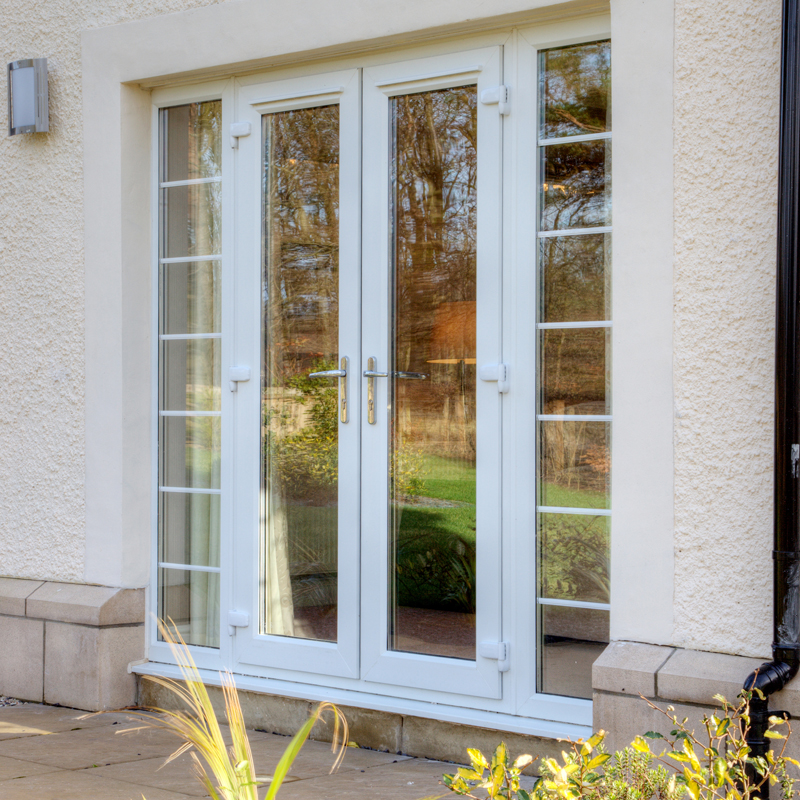 Pvc U French Doors Doors Crystal Direct