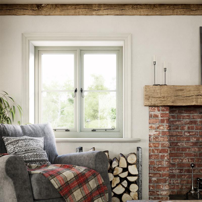 PVC-U flush casement windows